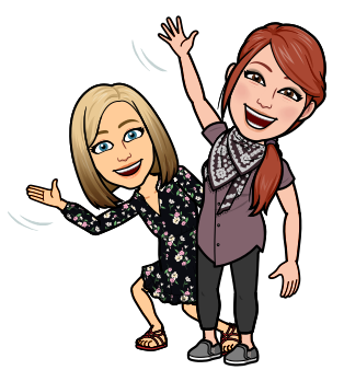 teachers waving Bitmoji